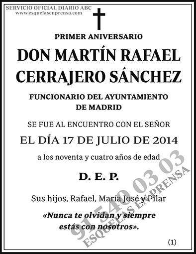 Martín Rafael Cerrajero Sánchez